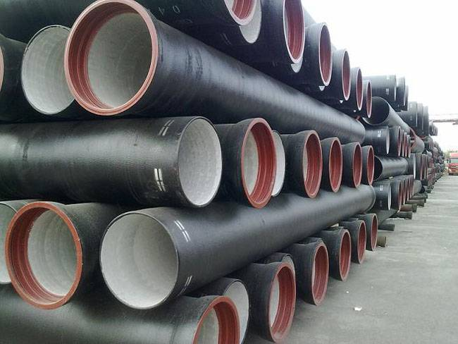 Ductile cast iron pipe for water supply