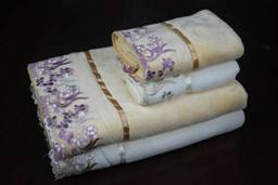 hot sale 100% bamboo fiber luxury bamboo towel with lace