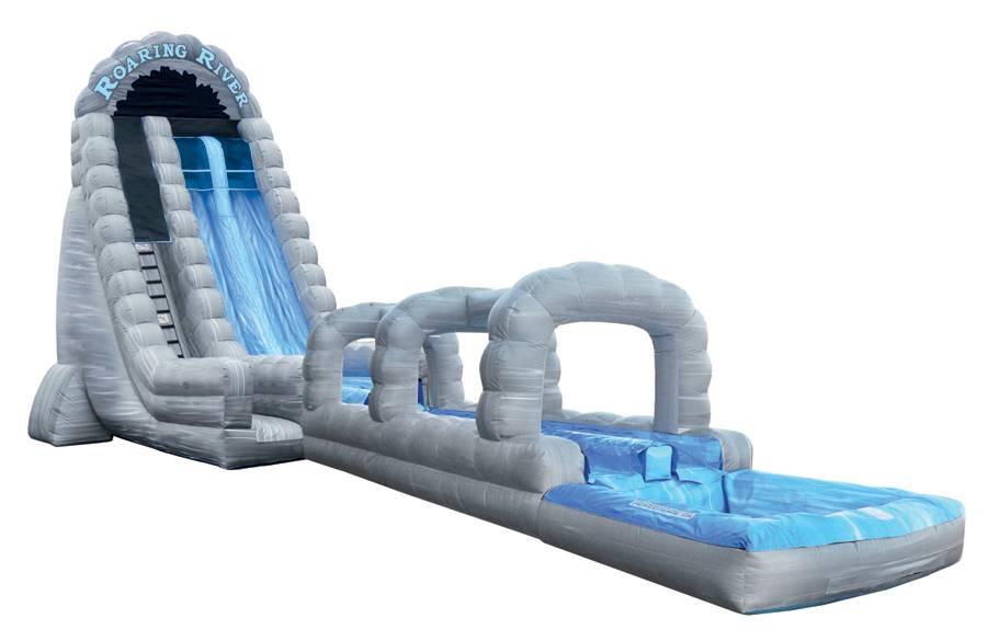 Lanqu inflatable roaring river slip n slide