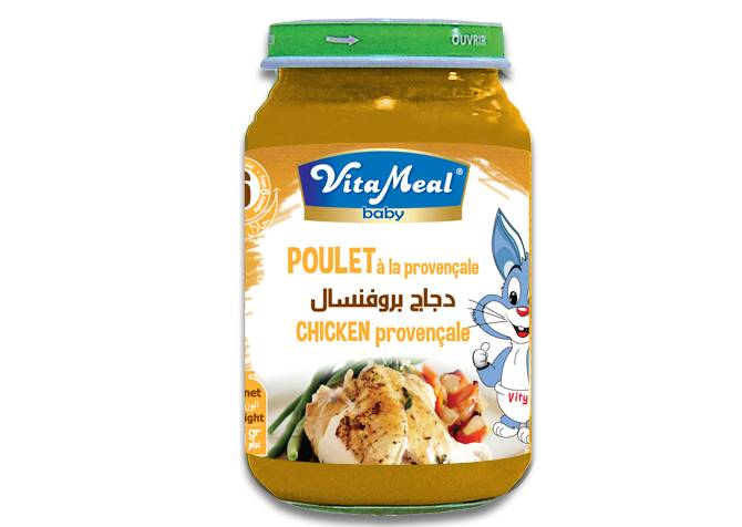 VITAMEAL BABY - Glass jars - Chicken Provencal