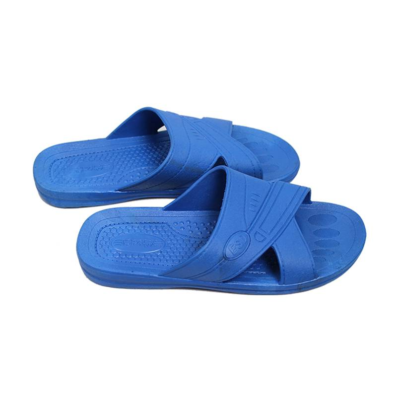 Hot Selling Women Low Linting LAB Anti Static Slippers Blue White