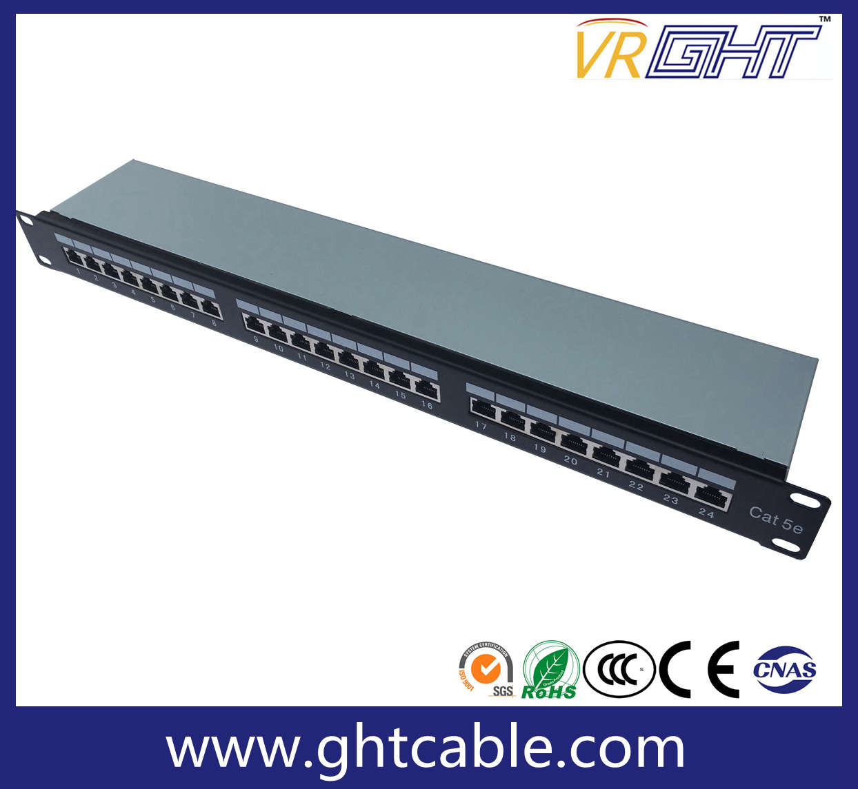 FTP Cat5e 24-Port Patch Panel