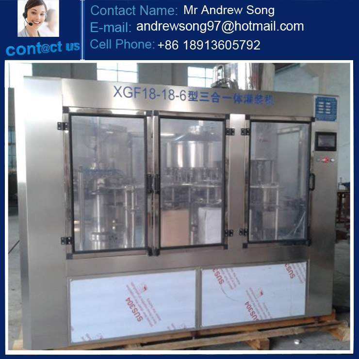 Full Automatic Bottled Spring Water, Pure Water, Mineral Water Filling System/Production Line