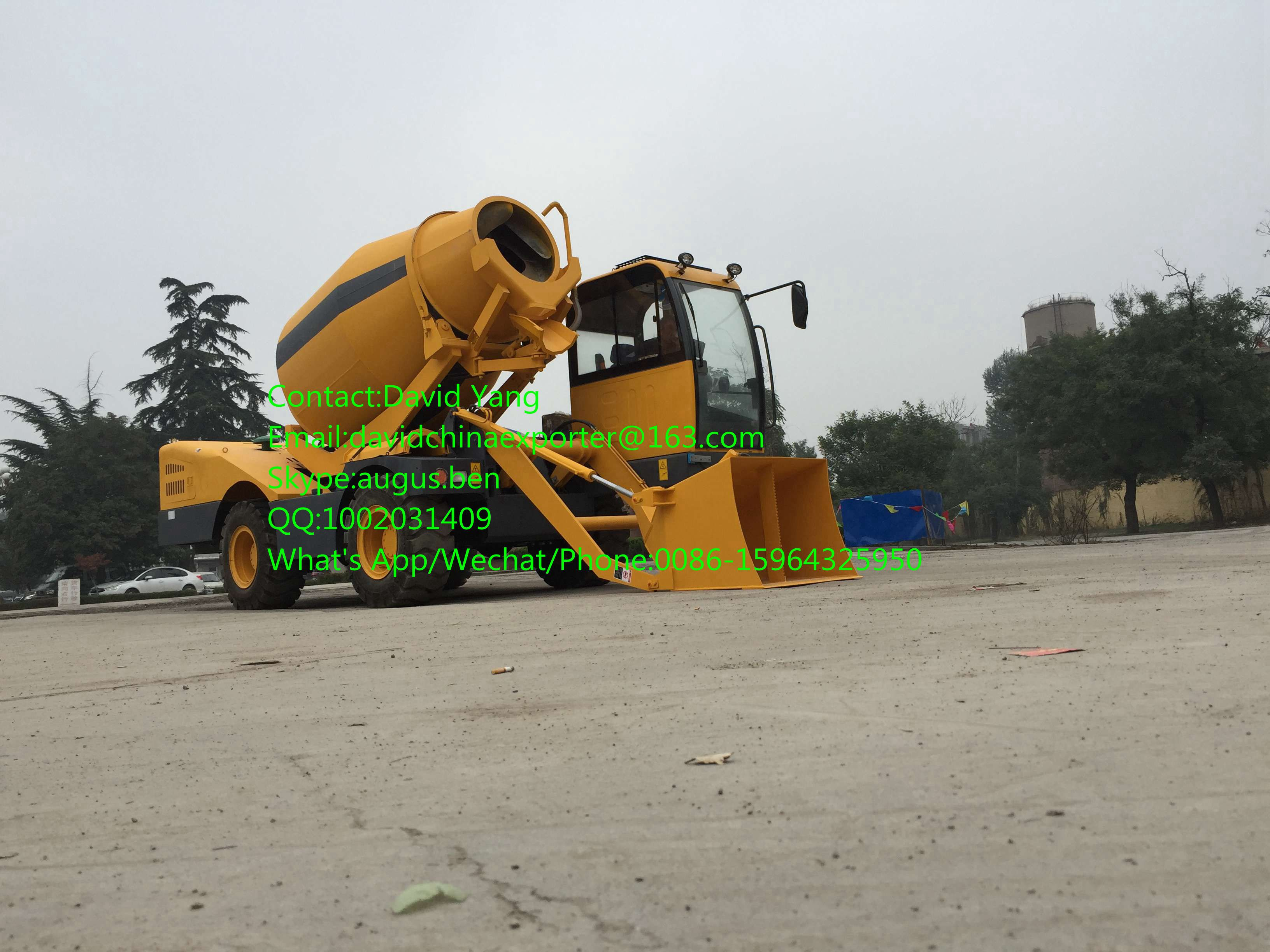 china high performance self loading 2m3 mobile concrete mixer
