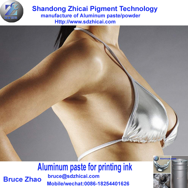 Textile printing inks used pigment aluminum silver paste