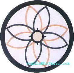 Simple leave shape waterjet Medallions