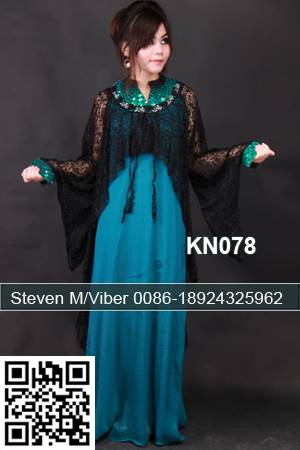 Black Lace Turquoise Chiffon Cocktail Kaftan Stones Beaded Party Dresses