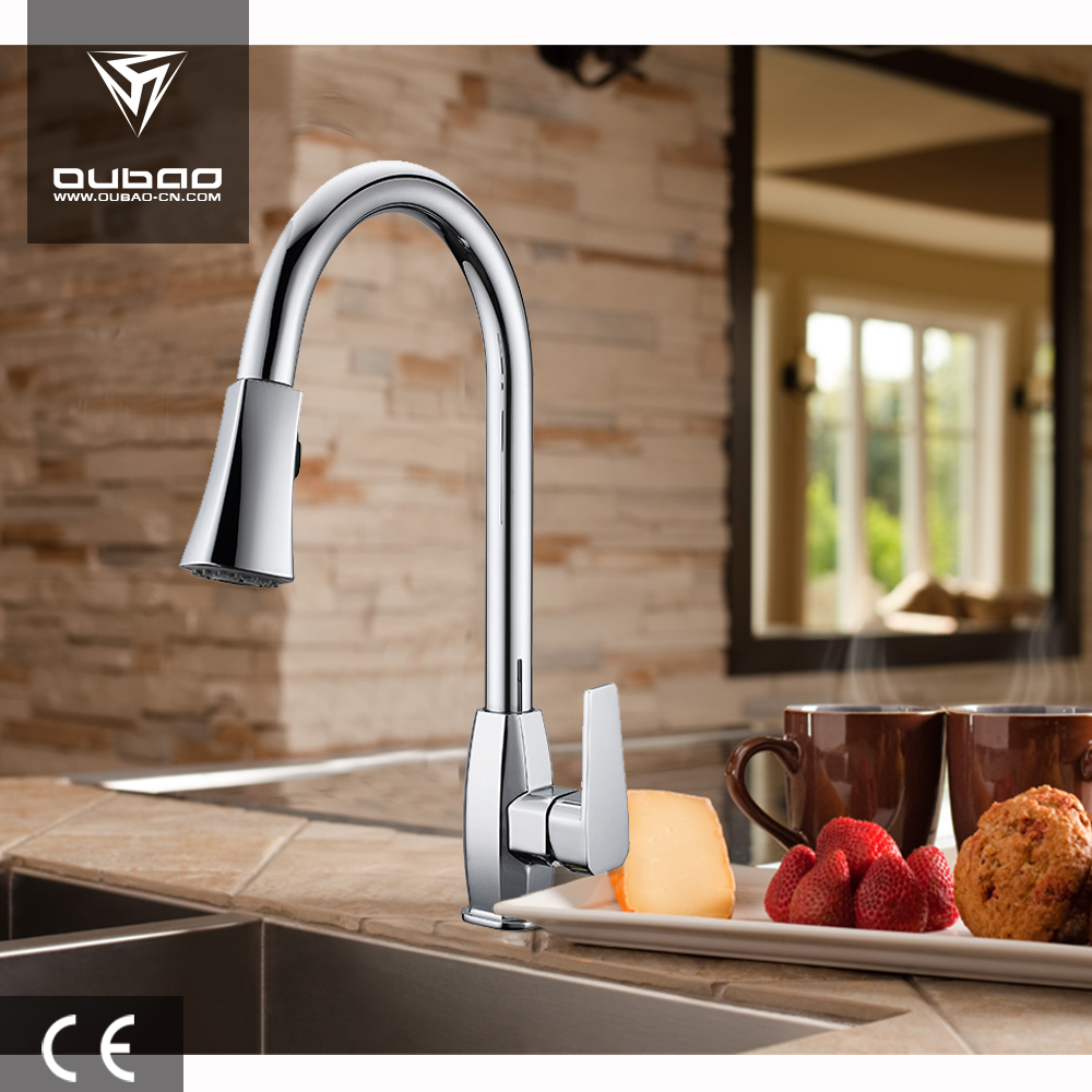 Oubao faucet long neck swan kitchen faucet washing basin faucet china supplier