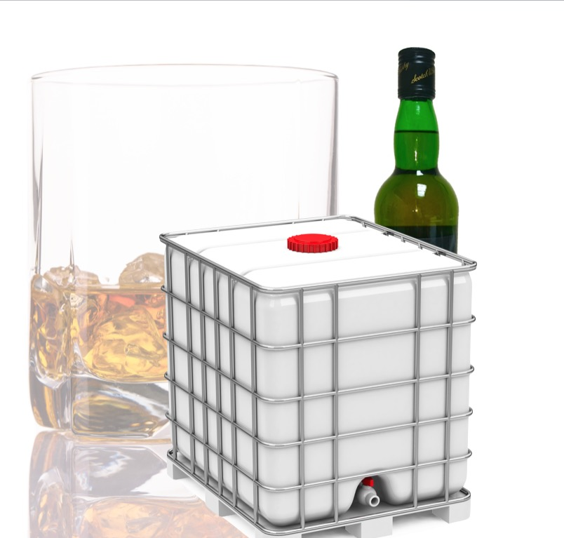 Scotch Whisky Bulk 1000 L IBC Container