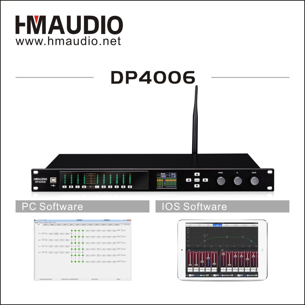 Performances used Digital loudspeaker management with 4 in 6 out model DP4006