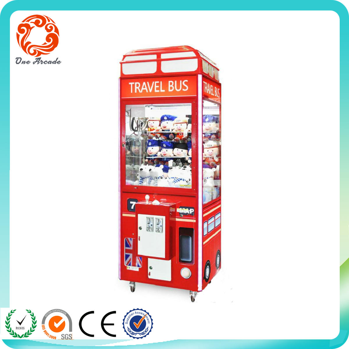 high quality amusement park coin operated prize game machine