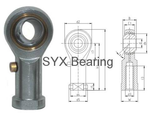 Rod end bearing PHSB7