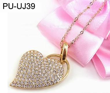 Woman Gift Jewelry Heart-Shaped USB Flash Drive