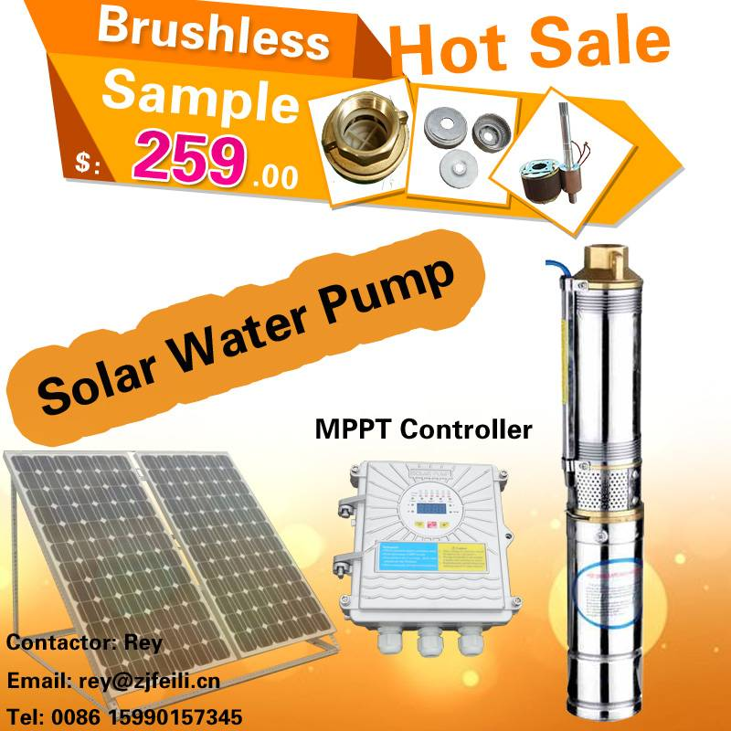 centrifugal & screw type dc solar submersible pump price 48v solar wells pumps submersible systems w