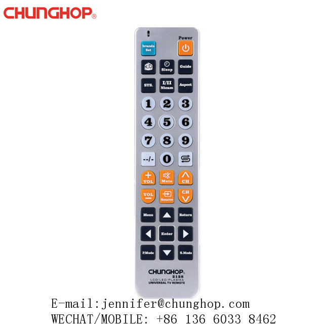 Chunghop Universal LCD LED PLASMA TV Remote Control 2128 Big Keys