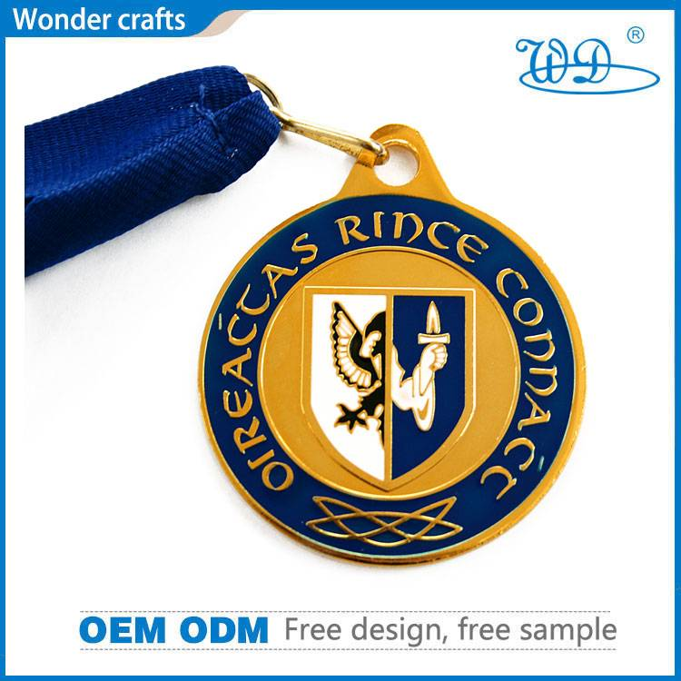 Coin Style Shiny Punch Press Embossed Bronze Plated Iron Aluminum Tungsten Black Blue Medal