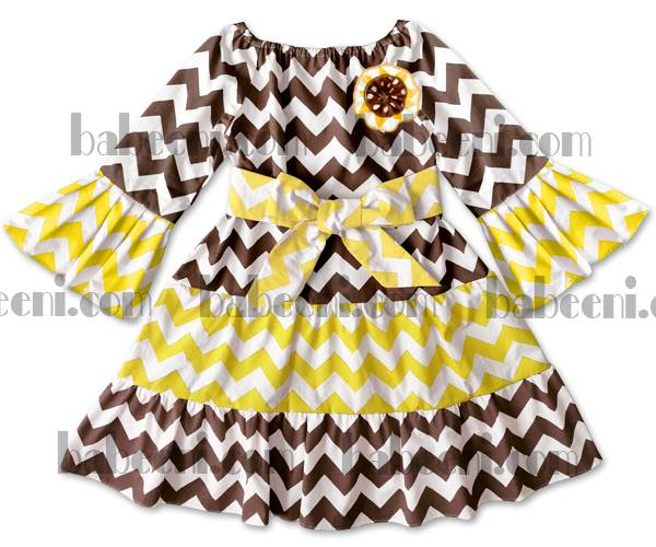 chevron baby peasant dress