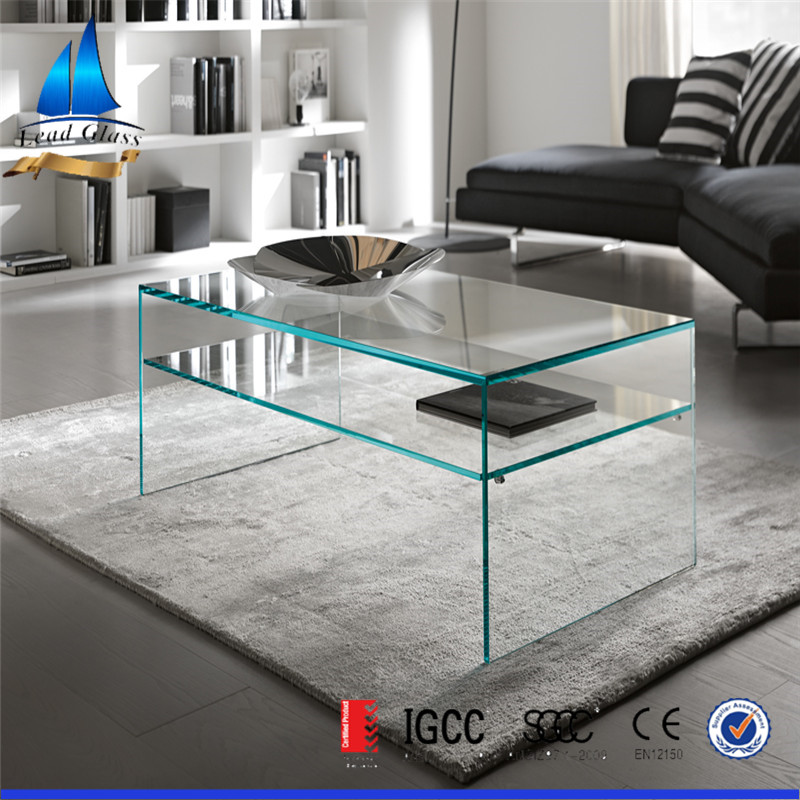 New design and high quality tempered glass furniture