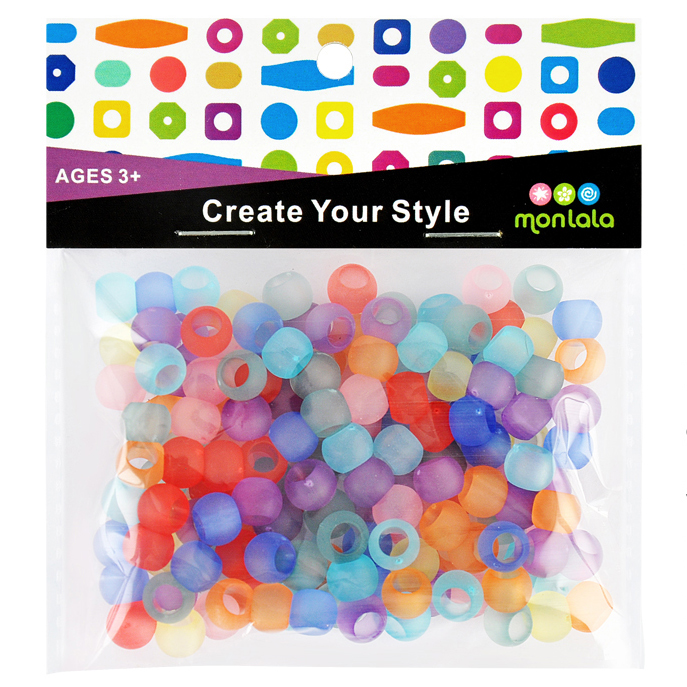Large Hole Roundel,Mix Color Frosted Beads, Loose Beads,Acrylic Spacer