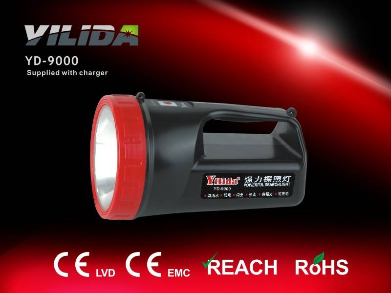 Rechargeable emergency light, halogen powerful search light, emergency lamp