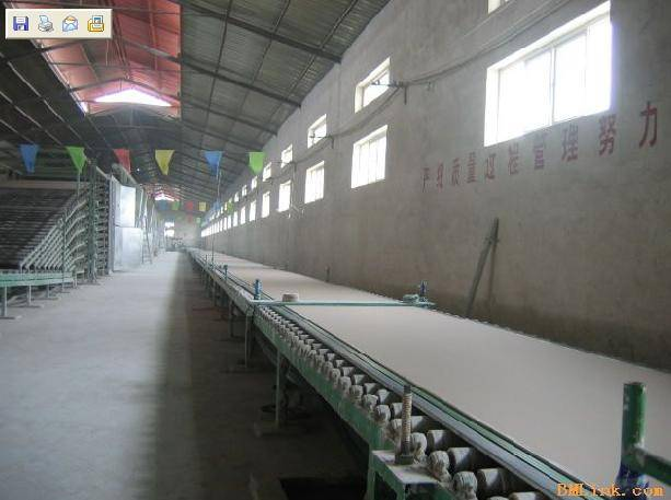 gypsum board production line with capacity 2million suare meters