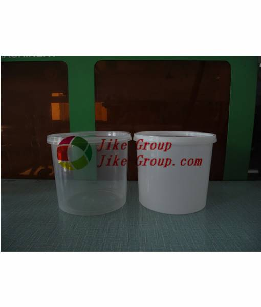 Wholesale gallon white plastic buckets with lid and handle Clear Plastic Bucket and Transparent Pail
