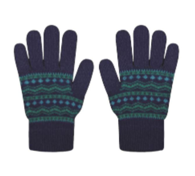 Various INTRASIA Pattern Premium Lamb Wool Gloves 5 Conductive Fingertips Various colors
