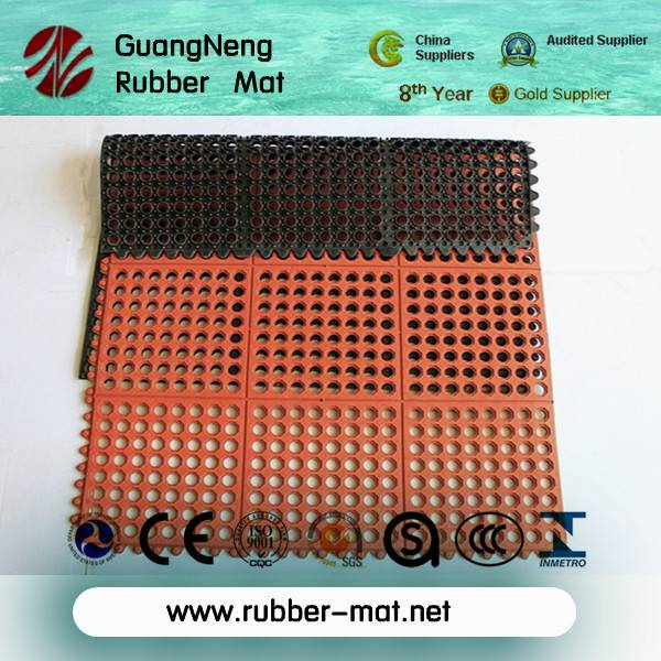 interlocking rubber grid jigsaw mat
