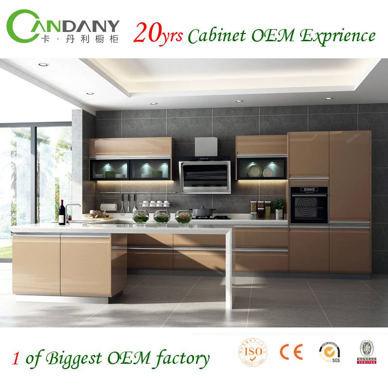 20 Yrs in OEM/ODM Paint Baked Kitchen Cabinets  For Sale