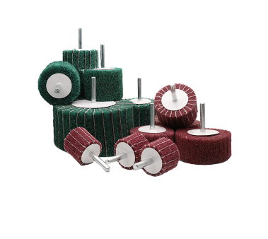 alumina oxide grinding Flap wheel roller with shank