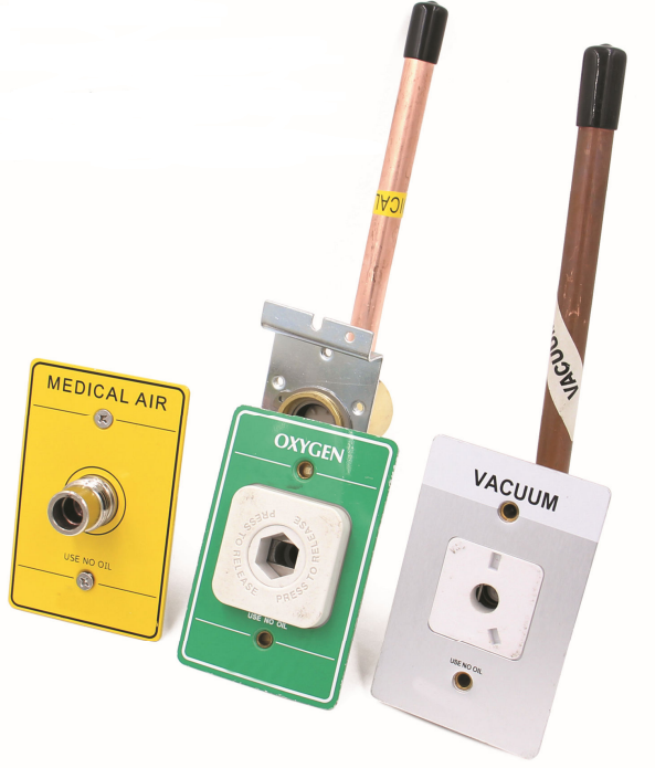 American Ohmeda standard gas outlet wall style