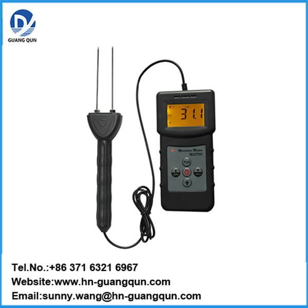 MS7100C Handheld digital Cotton Moisture Meter can test cotton lint,cotton seed