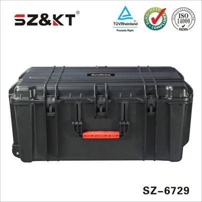 Waterproof IP67 large rolling plastic equipment case