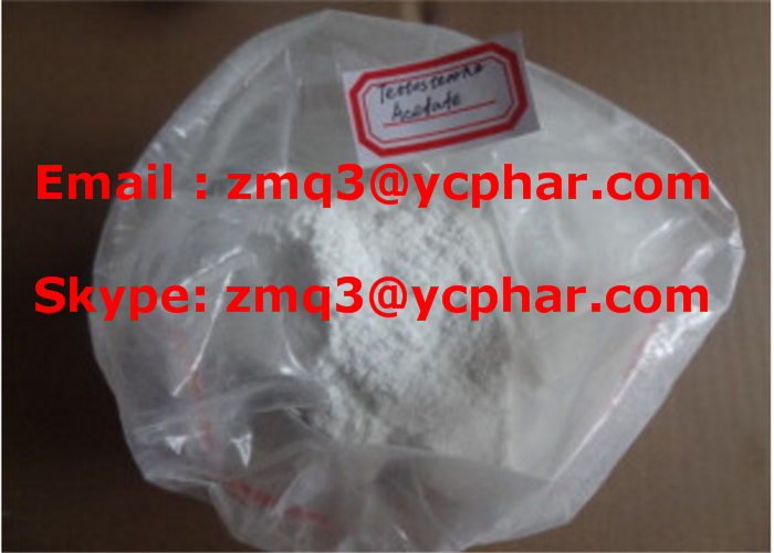 Testosterone Acetate Raw High Purity CAS 1045-69-8 Androgen Anabolic Steroids for Bodybuilding