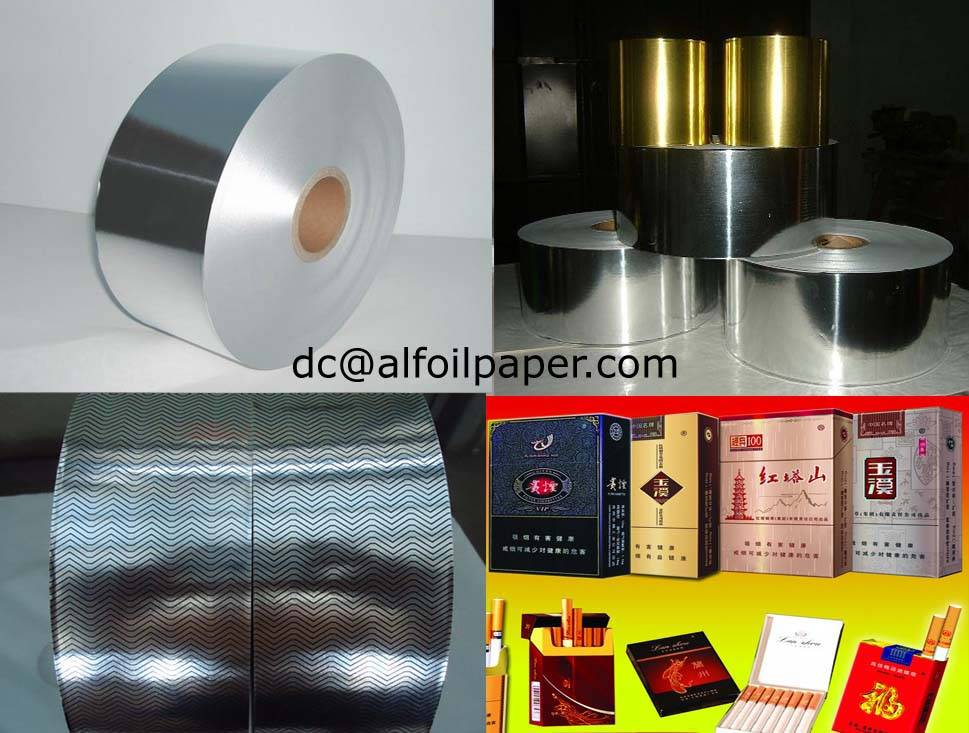 cigarette packing box paper compound with aluminum+0086 15837924957