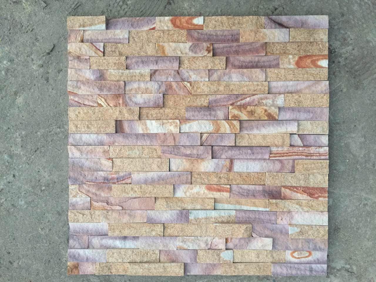 Colorful sandstone Culture stone 60x15cm