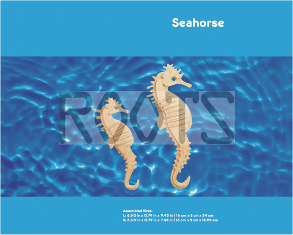 Sea Horse-3D wooden puzzles, wooden construction kit,3d wooden models, 3d puzzle