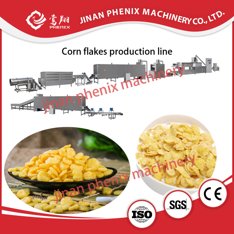 full automatic extruder machine to make corn flakes