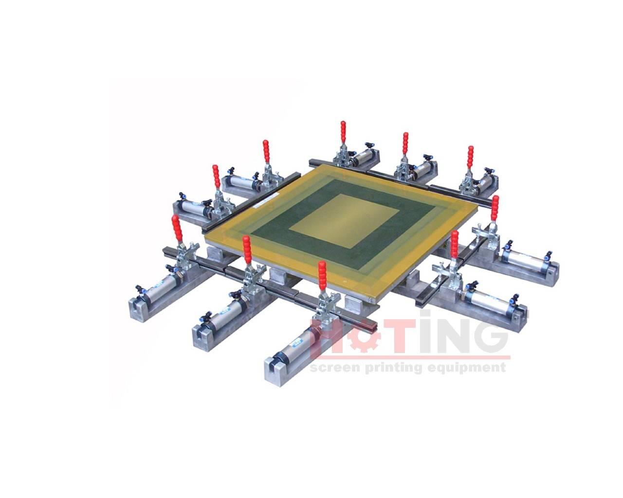 Pneumatic screen stretching machine