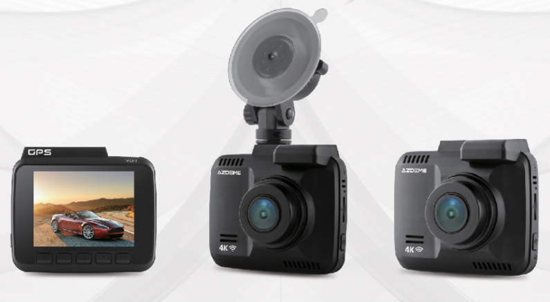 AZDOME GS65H front and rear dash cam with gps