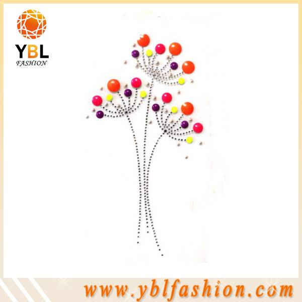 Flower rhinestone design transfer for kinds clothing