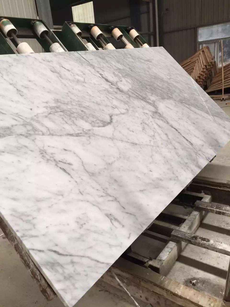 Oriental art Stone Carrara white marble tile
