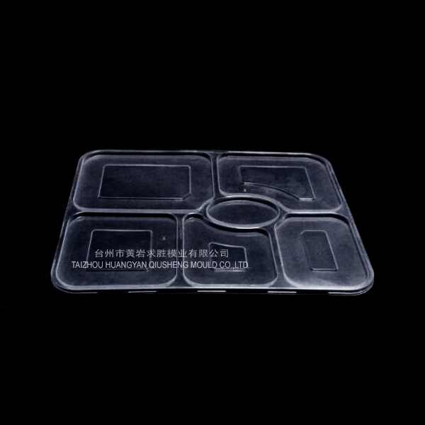 PP transparent multi-grid cover of fastfood plastic mould