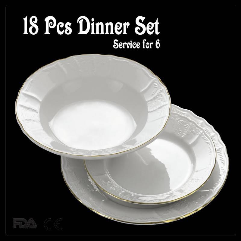 bone china embossed arcopal dinnerware