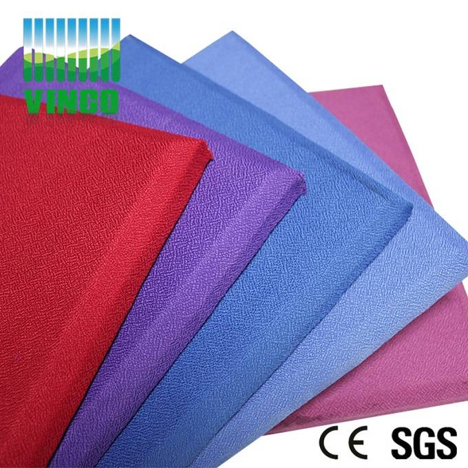 anti-fire fabric packed glass wool acoustic panel for hotel