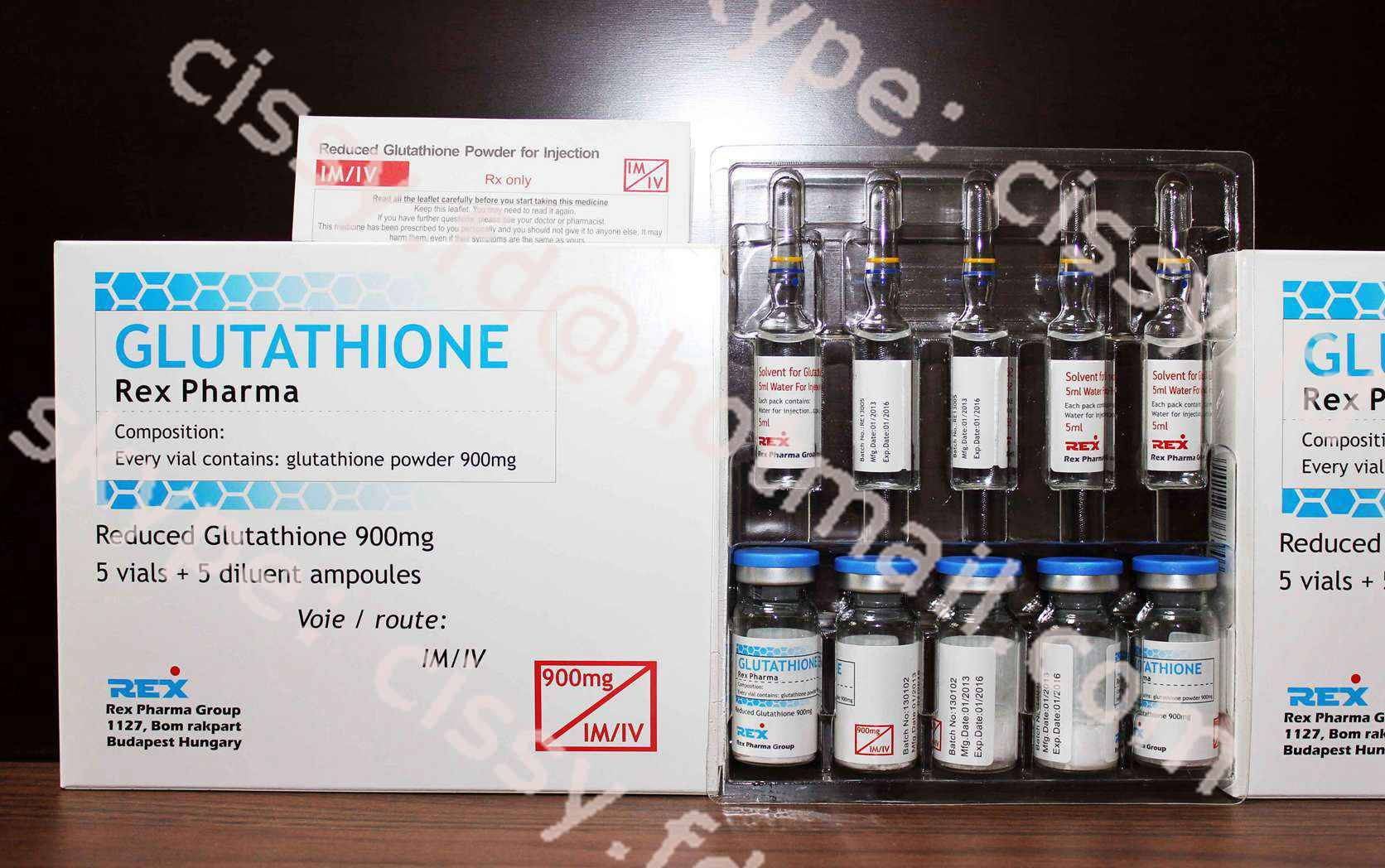900mg skin whitening Glutathione for injection