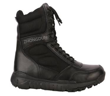 leather upper rubber sole military boots ZD102