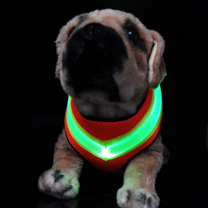 High quality of LED chain dog harness