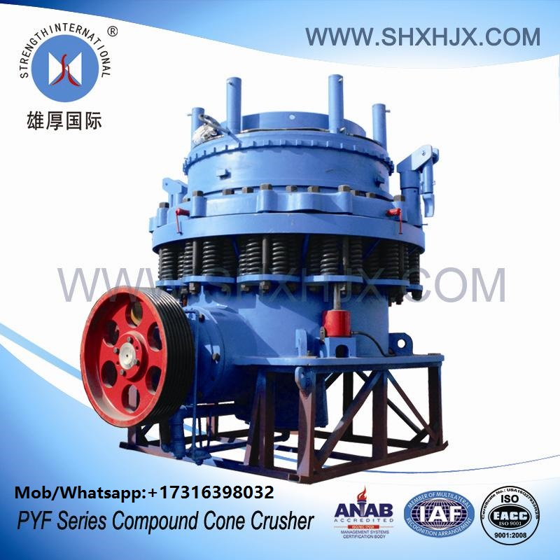 Versatility PYF Series Compound Cone Crusher Machine For Metallurgy With Optional Crushing Chambers
