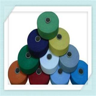 Color cotton recycled yarn open end